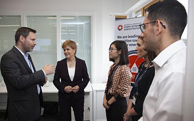 Nicola Sturgeon, First Minister of Scotland, visits the PNDC